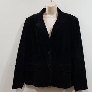 Metro style women's black corduroy blazer size